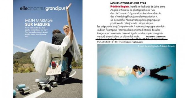 Article ELLE Nantes sur les photographes de mariages à Nantes