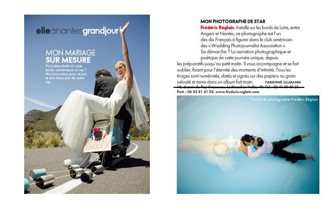 Article du magazine ELLE sur les photographes de mariage